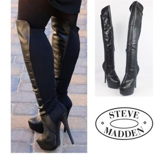 Over The Knee Steve Madden Highting Boots - Size 8